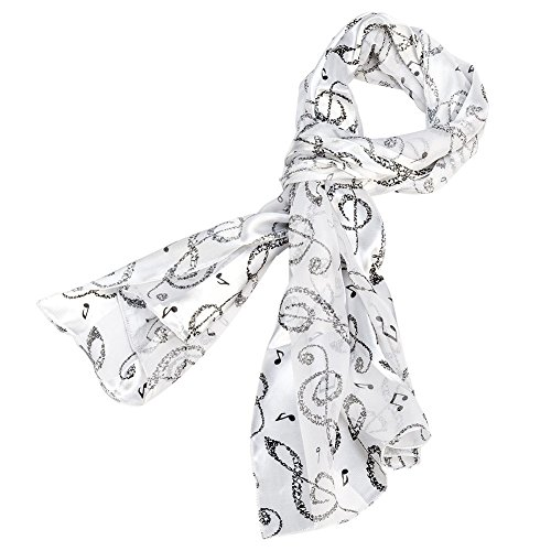 Black and White Music Note Scarf