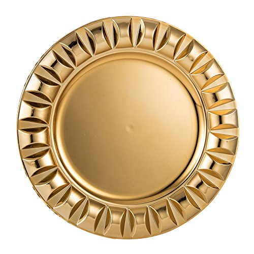 FANTASTIC ) Round 13 Inch Plastic Charger Plates with Eletroplating Finish (1 Beads Gold)  sc 1 st  Plate Dish. & Plastic Charger Plates $1. FANTASTIC :) Round 13 Inch Plastic ...