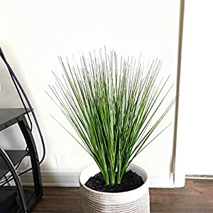 """27"""" Artificial Plants Onion Grass Greenery Faux Fake Shrubs Plant Flowers Wheat Grass for House Home Indoor Outdoor Office Room Gardening Indoor Décor 3"""