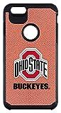 NCAA Ohio State Buckeyes Classic Football Pebble Grain Feel iPhone 6 Plus Case, One Size, Brown