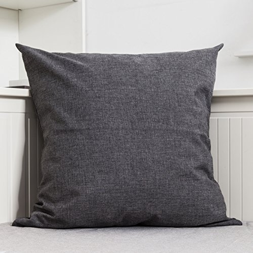 HOME BRILLIANT Slub Linen Cushion Cover Europe Throw Pillow