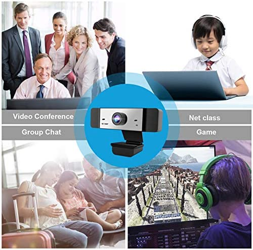 1080p Webcam with Microphone FHD Web Camera for Computers USB Video Streaming for PC Laptop Desktop Mac, No Delay Video Calling for Conference, Gaming, Online Classes 51 2BDvG0ttnL