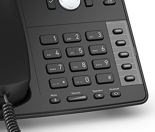 Snom SNO-D715 VoIP Desk Telephone with PoE Black