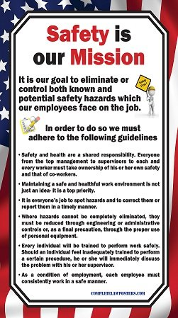Workplace Safety Posters - Safety is our Mission