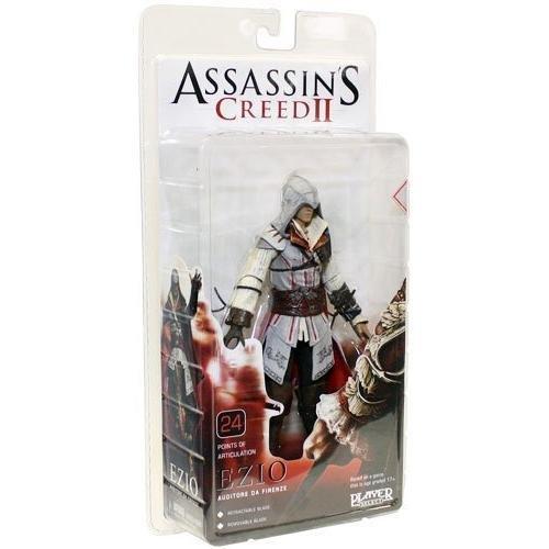 NECA Assassins Creed 2 Series 1 Action Figure Standard Ezio White (Assassin Creed Cloak)