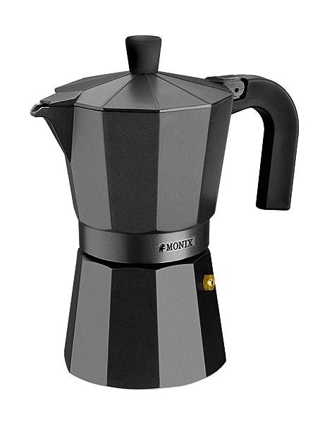 Monix Vitro Noir - Cafetera Italiana de Aluminio, Capacidad 12 ...