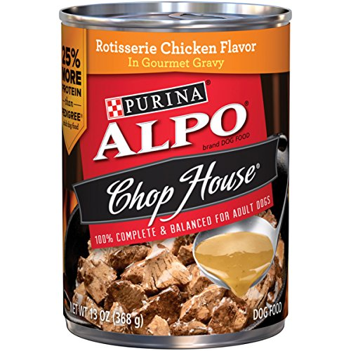 Purina ALPO Chop House Rotisserie Chicken Flavor in Gourmet Gravy Dog Food - (12) 13 oz. Can