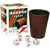 Cubilete Cup with Spanish Poker Dice Set. Imported from Spain