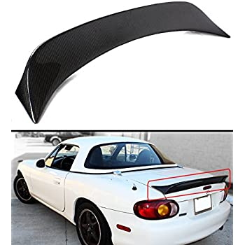 Cuztom Tuning For 1999-2005 Mazda Miata NB 2nd Gen Carbon Fiber High Kick Extended Big Trunk Lid Spoiler Wing