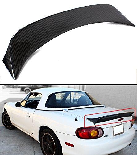 Miata Trunk Lid - Cuztom Tuning For 1999-2005 Mazda Miata NB 2nd Gen Carbon Fiber High Kick Extended Big Trunk Lid Spoiler Wing