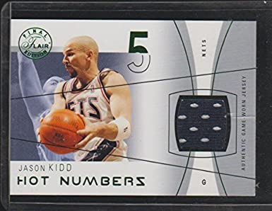 Image Unavailable. Image not available for. Color  2004 Flair Jason Kidd  Nets Game Used Jersey Basketball Card ... bd024ef98