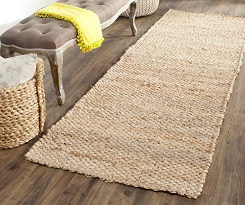 Safavieh Natural Fiber Collection NF459A Hand Woven Natural Jute Area Rug 2'6″ x 4'
