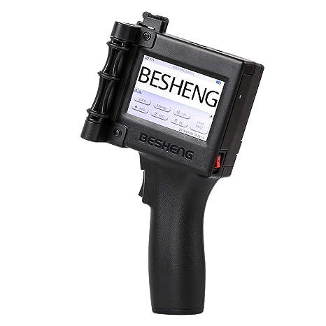 6d464c853295 Besheng Portable Intelligent High Definition Handheld Inkjet Printer,  Inkjet Code Printer,Label Printer,LED Screen Display Inkjet Coding Machine  for ...