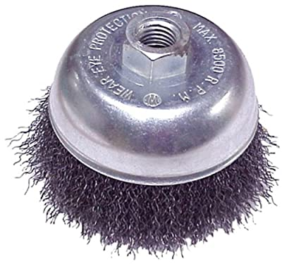 Mercer Abrasives 188014B-6 Crimped Cup Brushes For Right Angle Grinders 2-3/4-Inch by M14 x 20.0, 6-Pack