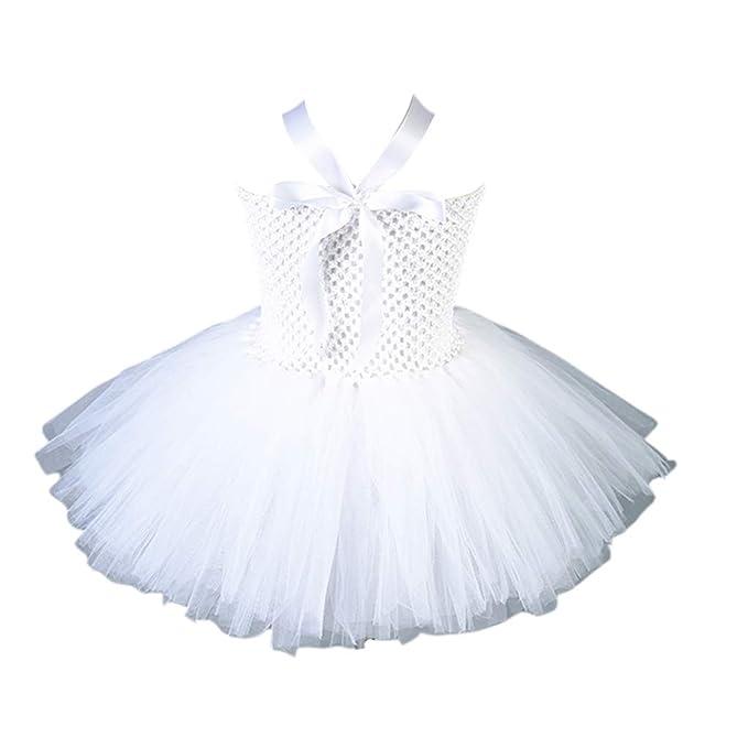 Disfraz de tutú para niñas pequeñas, color blanco, falda de ángel ...