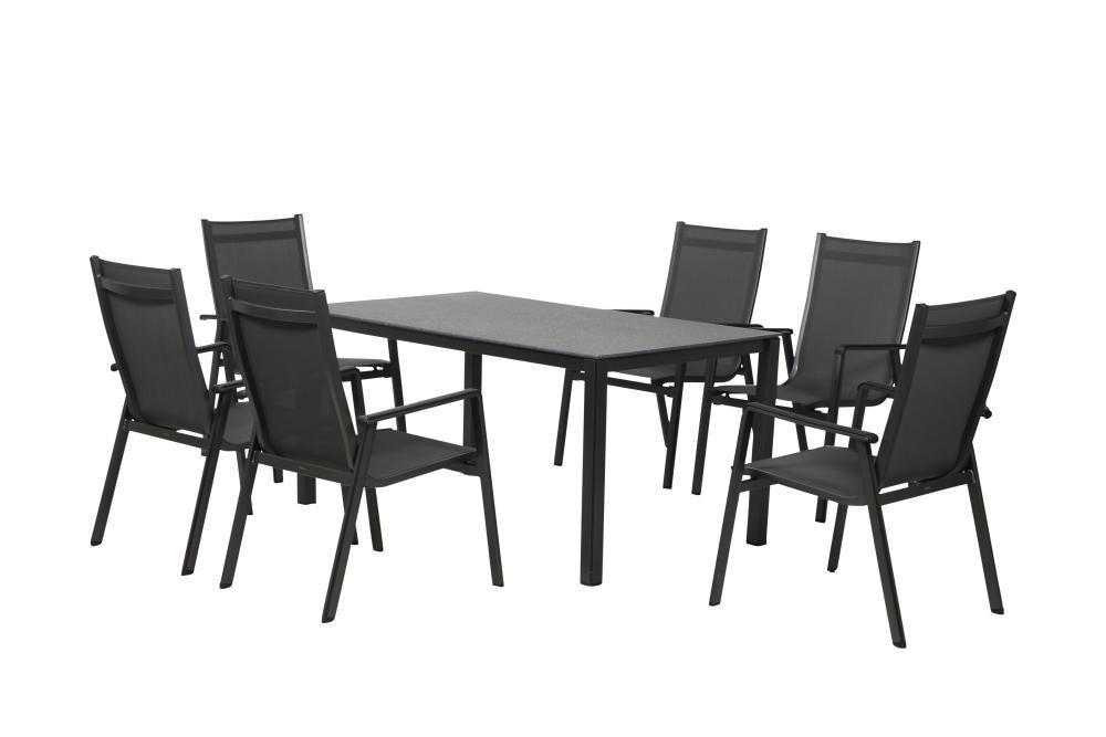 Florasun Gartenmobel Set Bbq 6 Relax Sessel 1 Gartentisch 160 X