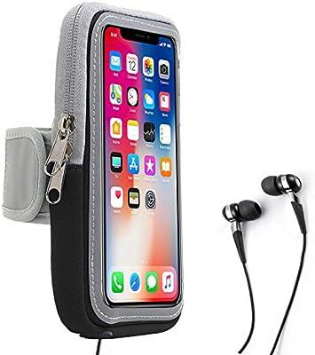 Brazalete Deportivo Sweatproof Correr Armbag Gym Fitness Estuche para teléfono Celular con Llave Holder Ranura para Tarjeta Wallet para iPhoneX 8 7 Plus 6s Y más 5.5 Inch (Black): Amazon.es: Electrónica