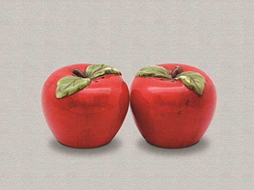 Ceramic Apple 2 Piece Salt and Pepper Shaker Set