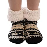 Pgojuni Christmas Fashion Women's Cotton Socks Print Thicker Anti-slip Floor Socks Carpet Socks 1PC (G)