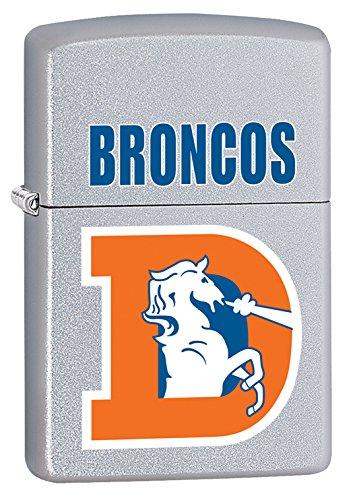 Denver Broncos Zippo Lighter Nfl (Zippo Lighter - NFL Throwback Denver Broncos Satin Chrome)