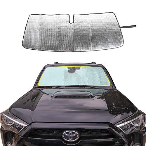 Toyota 4runner Windshield - JeCar Front Windshield Sunshade 4runner Sunshade Car Sun Shade Heat Shield 4runner Custom-fit Sunshade Sun Visor Mat for 2017 2018 2019 Toyota 4runner SUV