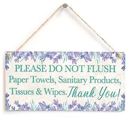 Por favor no Flush toallas de papel, productos sanitarios, tejidos y toallitas. Gracias