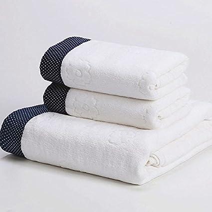 Bazaar 3pcs baño hotel puro algodón blanco toallas toalla envolver conjunto de toallas de baño