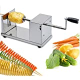 Cpixen Stainless Steel Potato Slicer Cutter Machine Twister Curly Spiral French Fry Tornado
