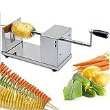 Cpixen Stainless Steel Potato Slicer Cutter Machine Twister Curly Spiral French Fry Tornado