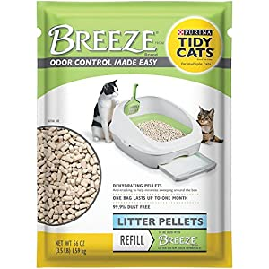 2 Pack of Purina Tidy Cats BREEZE Cat Litter Pellets Refill for Multiple Cats 3.5 lb. Pouch 92
