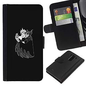 YiPhone /// Tirón de la caja Cartera de cuero con ranuras para tarjetas - Evil Witch & Queen - LG G3