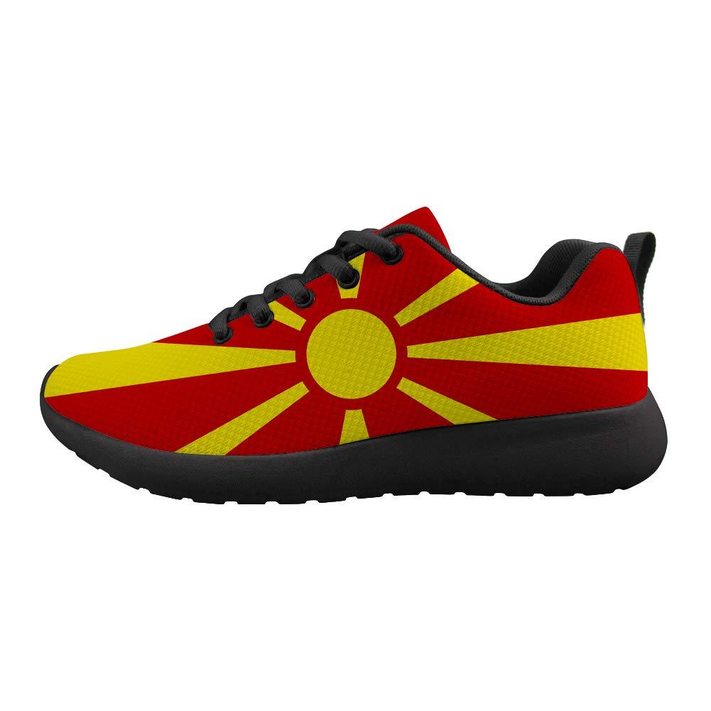 Owaheson Cushioning Sneaker Trail Running Shoe Mens Womens Macedonia Flag