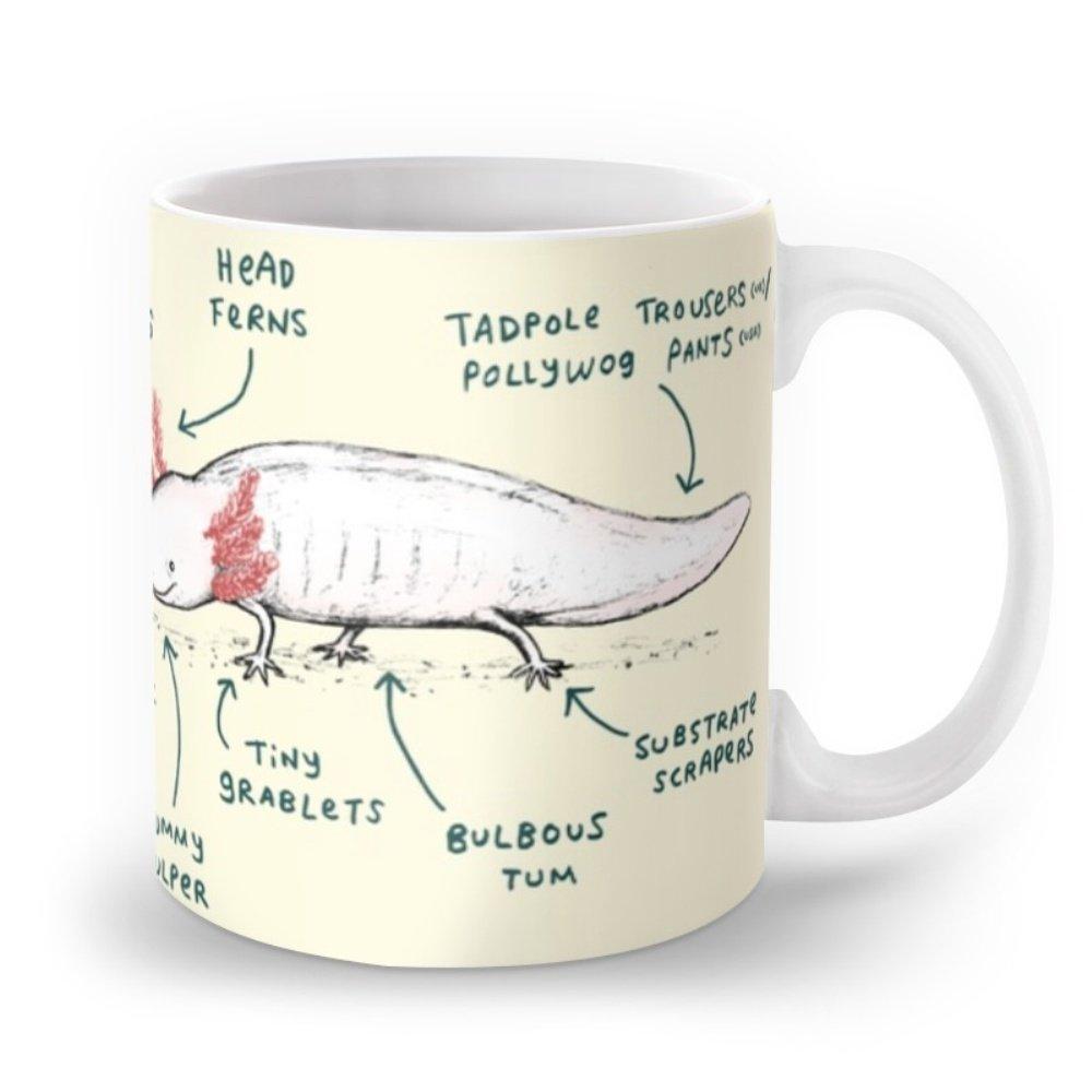 Society6 Anatomy Of An Axolotl Mug 11 oz