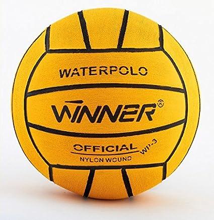 Ganador del balón de waterpolo. Tamaño 3.Mini Polo. Amarillo ...