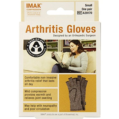 IMAK Compression Arthritis Gloves Small 1 pair ( Pack of 9) by Imak