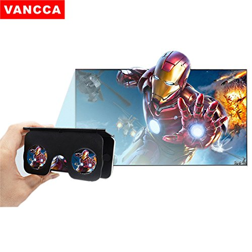 VR Headset Goggles Glasses VANCCA VC1 Foldable Virtual Reality 3D BOX for iOS iPhone 7/6/6s Plus Android Samsung all 4.0-6.0 inch Smart Phones White