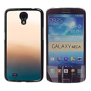 KLONGSHOP // Cubierta de piel con cierre a presión Shell trasero duro de goma Protección Caso - Resplandor Rosa - Samsung Galaxy Mega 6.3 //