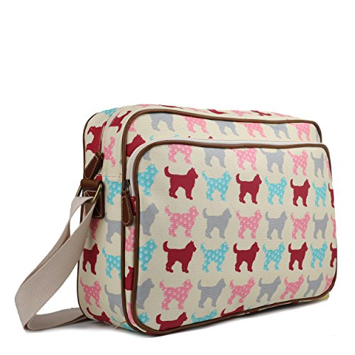 Beige Body Miss Large Cat Shoulder Dog Cross Oilcloth Universe Unisex Dog Bag Satchel Lulu A4 School Messenger afWrSavU