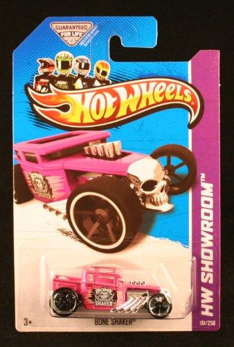 - BONE SHAKER (PINK) * HW SHOWROOM / AMERICAN TURBO * 2013 Hot Wheels Basic Car 1:64 Scale Series * Collector #181 of 250 *
