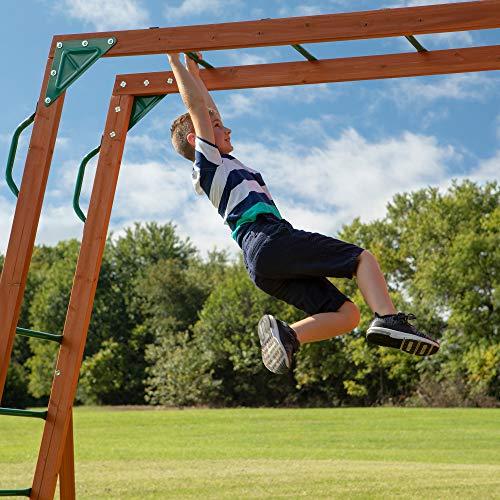 Backyard Discovery Skyfort II All Cedar Wood Swing Set
