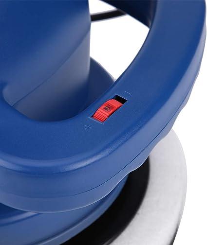 3100 RPM Cocoarm 10 Lucidatrice Auto Professionale Orbitale Eccentrica Elettrica con Platorello 240 mm per Pulizia Ceretta e Lucidatura Blu Europlug 230V 120 W