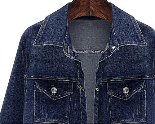 Le Giacche Jean Donna✿moda Cardigan Blu Grossa Button Tasche Taglia Denim Per Capispalla Bcfuda Overcoat Lungo Cappotti Donne ZwOlkTPXiu