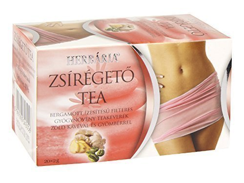 Fat Burner & Weight Loss Diet Supplement Tea with Green Coffee, Ginger and Green Tea -20x2gTeabags