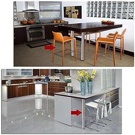 Multiware 1 Pied de Table Hauteur R/églable Acier Chrom/é Hauteur 710 mm-1100 mm Pied Rond pour Table Bar Table de Petit D/éjeuner Blanc