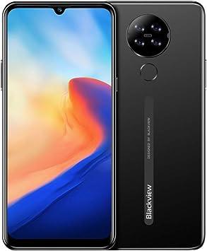 Blackview A80 Android 10 Teléfono Móvil 4G, Pantalla HD + 6.21 Pulgadas, Cuatro Cámaras Traseras, Quad Core 2GB + 16GB, Batería 4200mAh, 8.8 mm Diseño Elegante y Delgado, Dual SIM Smartphone Negro: Amazon.es: Electrónica