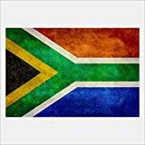 eFrame Fine Art | South African Flag, Flag of South Africa by Bruce Stanfield 8'' x 12'' Print Wall Art for Wall or Home Decor (Black, Brown, White Frame or No Frame)
