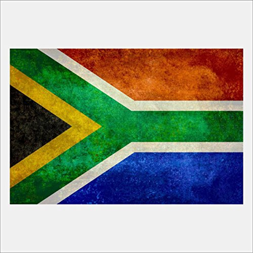 eFrame Fine Art | South African Flag, Flag of South Africa by Bruce Stanfield 8'' x 12'' Print Wall Art for Wall or Home Decor (Black, Brown, White Frame or No Frame) by eFrame