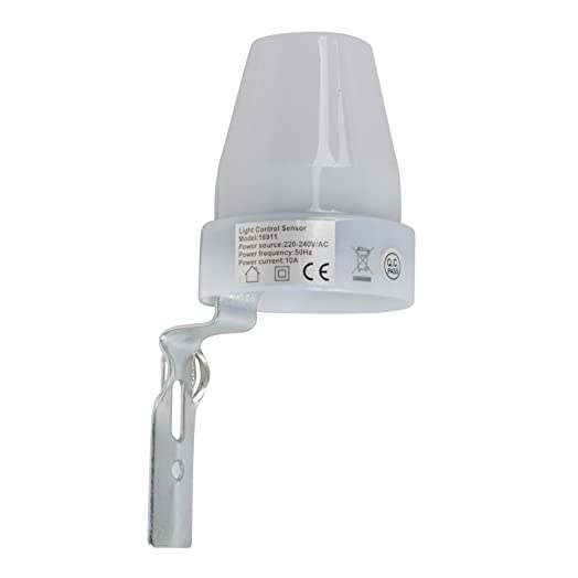 White outdoor ip44 rated dusk till dawn photocell light sensor white outdoor ip44 rated dusk till dawn photocell light sensor detector switch mozeypictures Choice Image