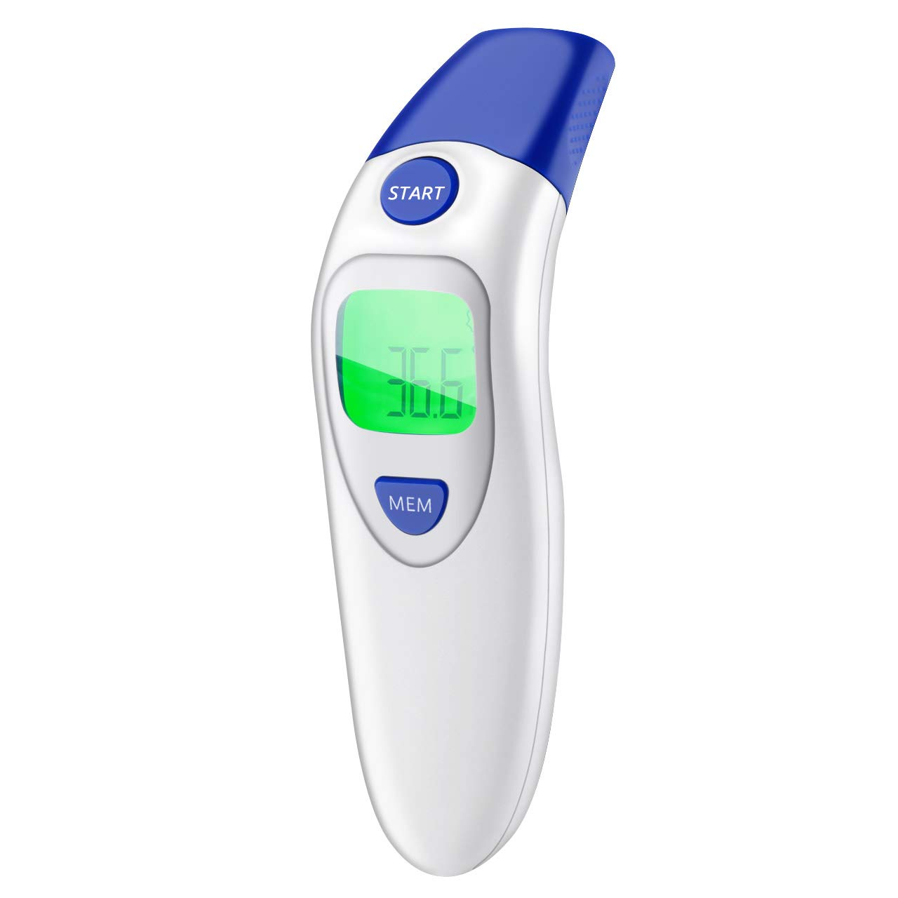 Baby Thermometer 2 in 1Digital Forehead and Ear Thermometer Medical Infrared Thermometer Suitable for Baby Infant Toddler and Adults with Fever Alarm and Color Indicator