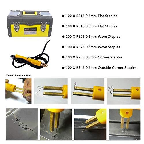 Plastic Welding Machine Portable Hot Stapler Plastic Repair Kit For Plastic Separating Repairing Welding 110V by Bespick (Image #4)